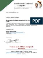 USUARIOS Y CLAVES CORREOS CORPORATIVOS BACHILLER
