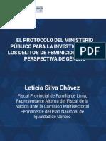 EL PROTOCOLO DEL MINISTERIO PUBLICO DELITOS DE FEMINICIDIO