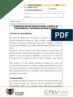 PROTOCOLO UNIDAD 4 BASES DE DATOS II