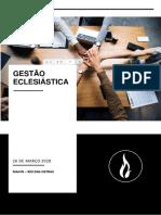 GESTÃO ECLESIATICA