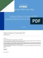 Tax seminar - Salient features of Finance Bill 2019 (Tax and VAT)