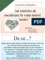 Proiect - Rolul rețelelor de socializare -
