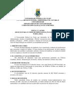 EDITAL ESPECIALIZAÇÃO EM AUDITORIA 2020.2
