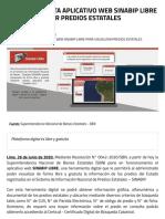 111ojitoSBN IMPLEMENTA APLICATIVO WEB SINABIP LIBRE PARA VISUALIZAR PREDIOS ESTATALES