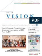 Special Economic Zones (SEZs) and Investment Opportunities in CPEC April 26, 2018 _ Strategic Vision