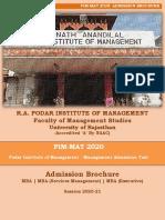 Revised PIM-MAT 2020 (Admission Brochure- 08-06-2020)
