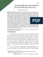 COMPETÊNCIA EM MATÉRIA DE LICENCIAMENTO Sarah Carneiro Araújo