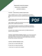 INTRODUCCIÓN A LA ADMINISTRACIÓN CASO PRACTICO UNIDAD # 1.