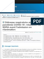 Détresse respiratoire aigue et pandémie COVID-19  Intubation du SDRA avant (...) - Urgences-Online