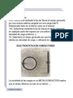 2. Electrostática en conductores (Problemas de clase)