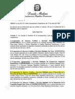Decreto 343-14  de Fecha 15 de Septiembre, 2014 Incorporacion COOPDEPOP