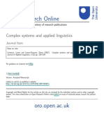 Complex systems and applied linguistics