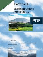 PRACTICA IX  Análisis de humedad atmosférica