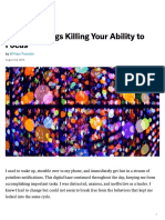 The Two Things Killing Your Ability to Focus