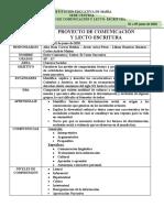 PROYECTO DE COMUNICACION - LECTOESCRITURA - SOCIALES