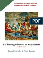 IV Domingo Despues de Pentecostes. Propio y Ordinario de la santa misa rezada