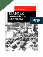 Alexander Berkman - El ABC del comunismo libertario