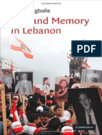 Sune Haugbolle War and Memory in Lebanon (Cambridge Middle East Studies)  2010.pdf