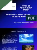 03 Curso de Astronomia Básica - Movimentos da Esfera Celeste - Movimento Diurno