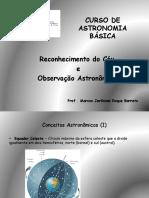 04 Curso de Astronomia Básica - Reconhecimento do céu - Observação astronomica