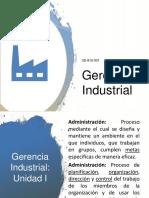 Gerencia Industrial - unidad 1
