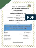 RAPPORT DE SORTIE PEDAGOGIQUE