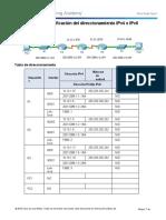 Identificación del direccionamiento IPv4 e IPv6-convertido