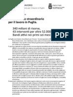 Piano Straordinario Lavoro 2011 della Regione Puglia