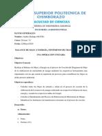 BALANCE DE MASA Y ENERGÍA DE UN PROCESO - Hidalgo Andrés