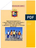INFORME DE GEOLOGIA DE CAMPO I