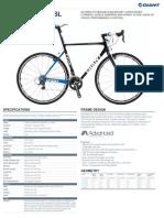 Giant Bicycles 45488 Tcx.advanced.sl