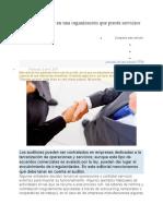 Labor del auditor en una organización que presta servicios de tercerización