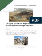 LA CAPITAL PERDIDA DEL IMPERIO HITITA - Historia Antigua - Carmen Chas