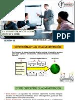 SESION 1 - LA ADMINISTRACION COMO CIENCIA Y ARTE