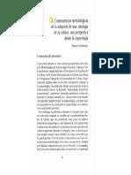 Gándara Consecuencias Metodológicas de La Adopción de Una Ontología de La Cultura, Una Perspectiva Desde La Arqueología (1994)