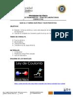 GUÍA No 3. FUERZA ELÉCTRICA