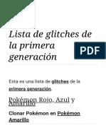 Lista de glitches de la primera generación - WikiDex, la enciclopedia Pokémon
