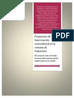 Propuestas de intervención sociocultural en la comuna de Valparaíso.