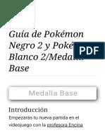 Guía de Pokémon Negro 2 y Pokémon Blanco 2_Medalla Base
