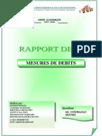 Rapport de TP mesures de débit