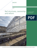 Rail structures, ownership and reform-UK