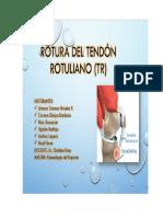 ROTURA DEL TENDÓN ROTULIANO