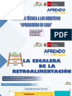 Escalera de la Retroalimentación UGEL Satipo - Víctor Bastidas, Rode Huillca, Carlos Sánchez