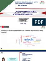 PPT RVM Nª 094-2020-Minedu Evaluación de las Competencias UGEL Satipo Rode Huillca, Víctor Bastidas, Carlos Sánchez