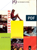 University of Iowa Student, Faculty, and Staff Directory 1998-1999