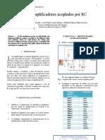 Informe Amplificadores Acoplados por RC