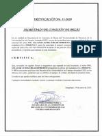 Certificado de No Ser Beneficiario de Becas