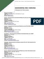 Folha Online - Turismo - Prepare-se - Lista de concessionárias das rodovias