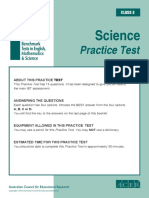 IBT Sample Grade 3 Science