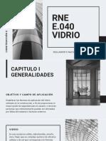 RNE E.040 vidrio